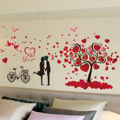 Valentine's day couples wall sticker