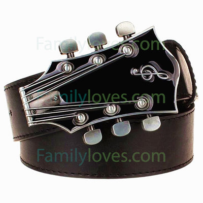 Buy Fashion Men's belt metal buckle belts Retro guitar - Familyloves hoodies t-shirt jacket mug cheapest free shipping 50% off