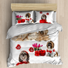 Shih tzu bedding sheet duvet cover