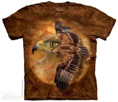 TAWNY EAGLE SPIRIT NATIVE AMERICAN BIRD T- SHIRT S-5XL