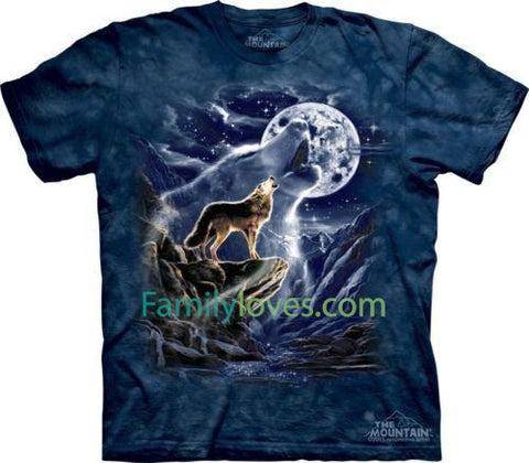 Wolf Spirit Moon T-Shirt. Native American Wolves Sizes S-5XL NEW