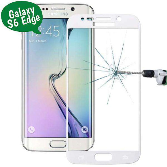 Tempered Glass - Τζαμάκι / Γυαλί Οθόνης Curved - Samsung Galaxy S6 Edge (G925) - Λευκο - iThinksmart.gr