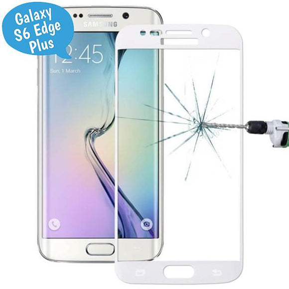 Tempered Glass - Τζαμάκι / Γυαλί Οθόνης Curved - Samsung Galaxy S6 Edge Plus (G928) - Λευκο - iThinksmart.gr