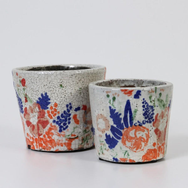 INDIGO LOVE | Glazed Terracotta Pots