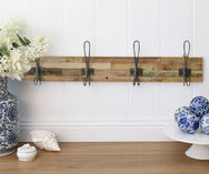 LIFESTYLE FURNITURE | Recycled 4 Hook Coat Rack