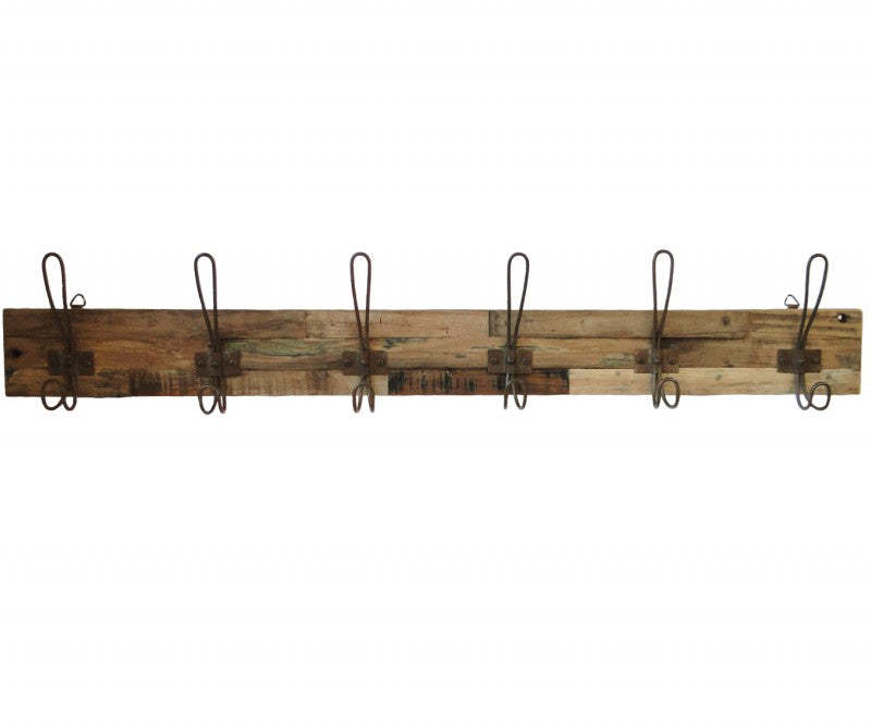 LIFESTYLE FURNITURE | Recycled 6 Hook Coat Rack