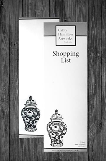 CATHY HAMILTON ARTWORKS | SHOPPING LISTS