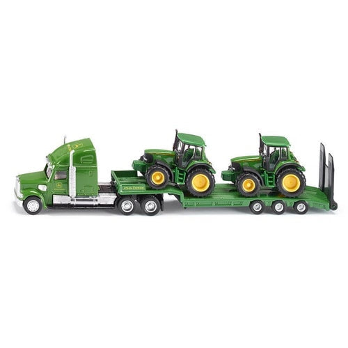 SIKU Boxed Set | Low Loader with John Deere Tractors (1837)