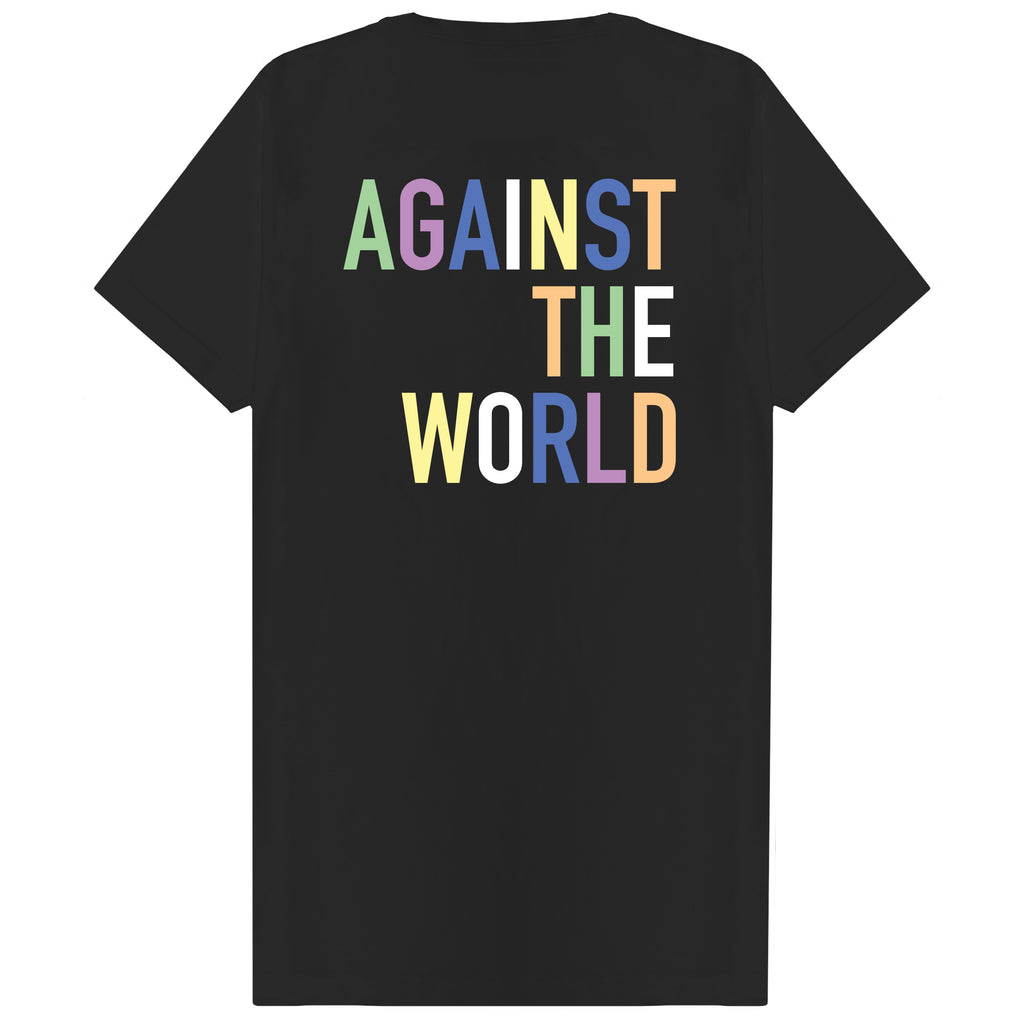 Pastel Against The World T-shirt Black