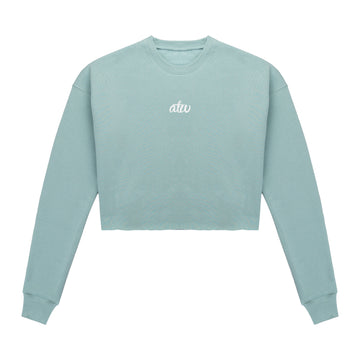 Cropped Sweater Turquoise