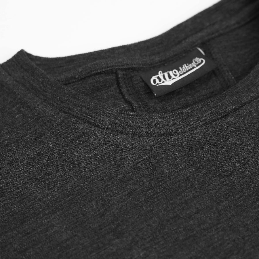 Textured Knit T-shirt Black