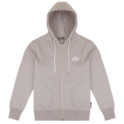 Delta Zipped Hoodie Taupe