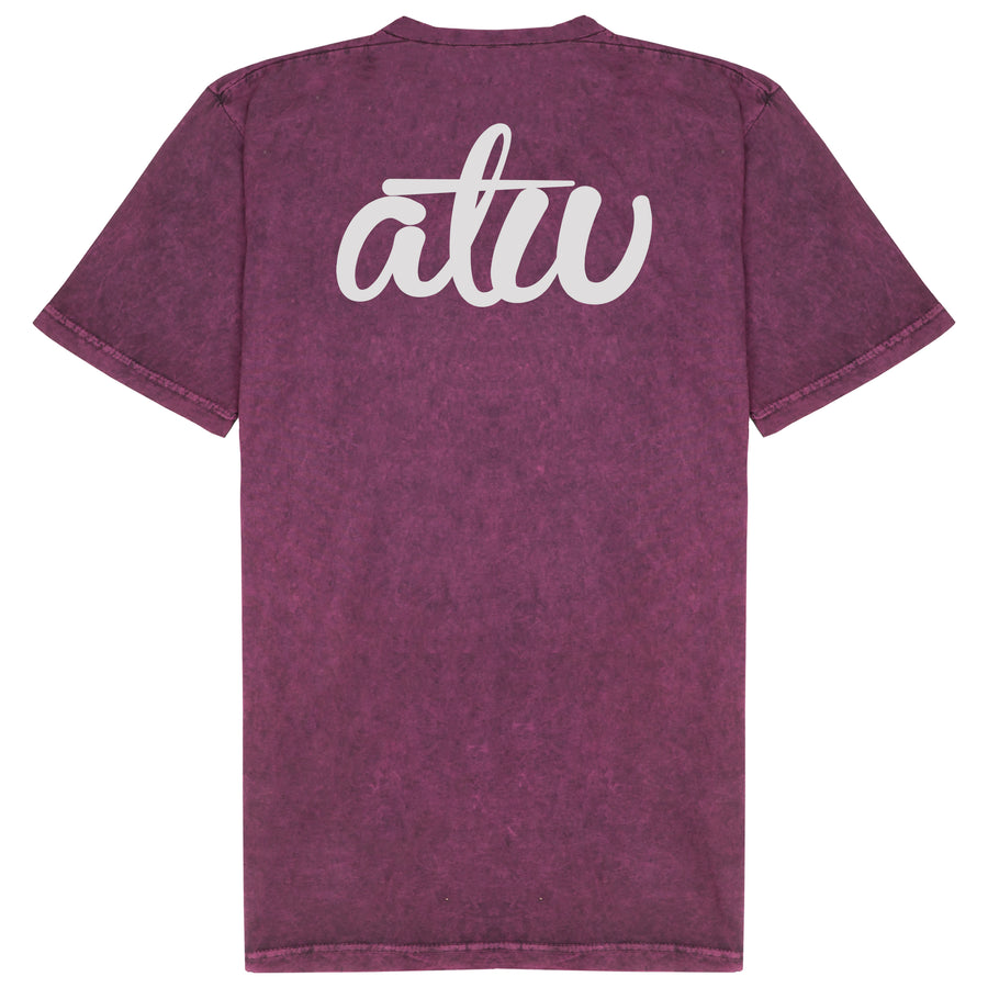 Acid Wash Maroon ATW T-shirt