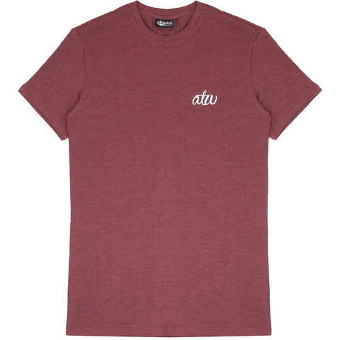 Textured Knit T-shirt Maroon