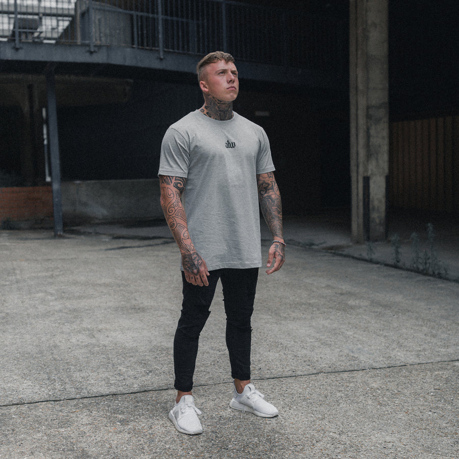 Old English T-shirt Grey
