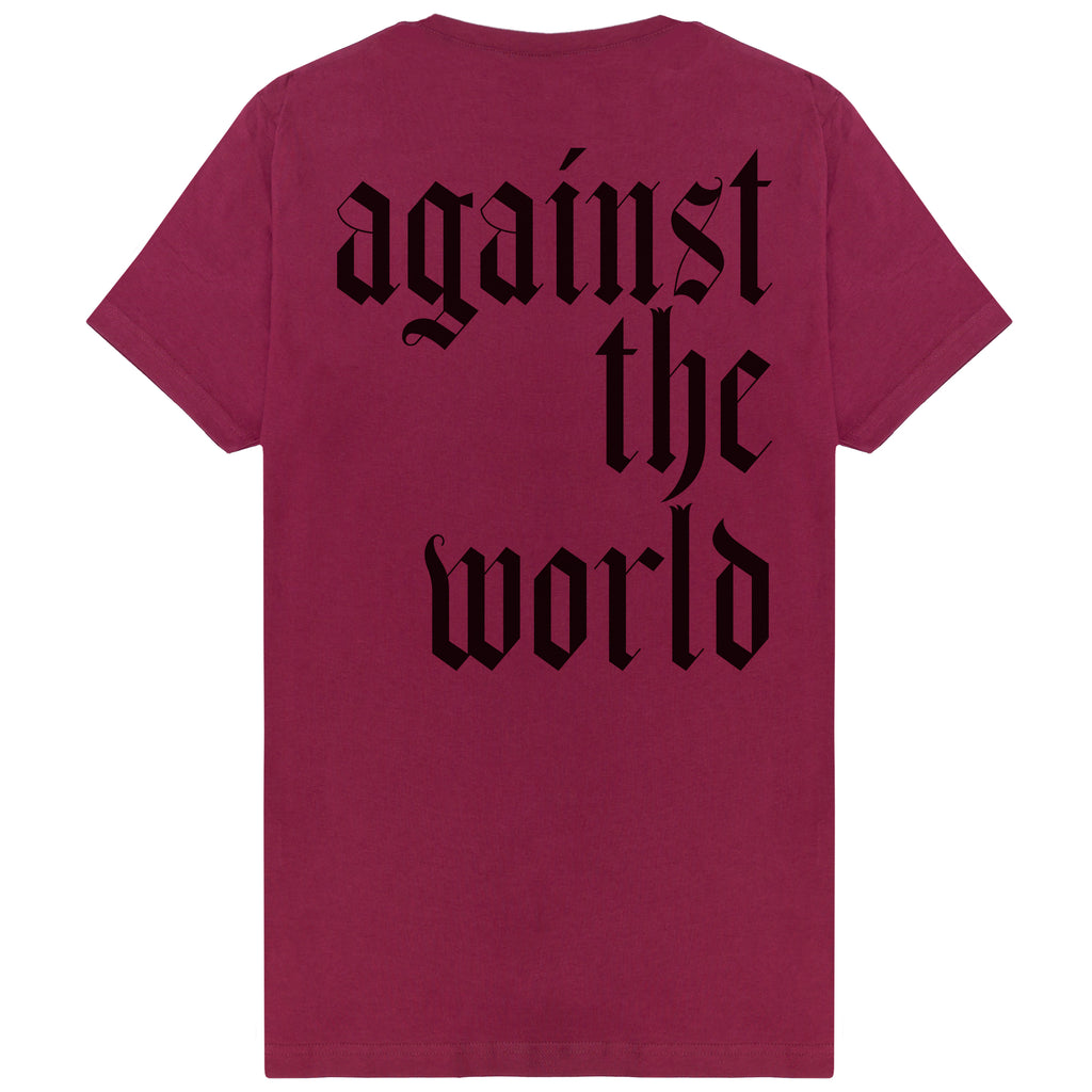 Old English T-shirt Maroon