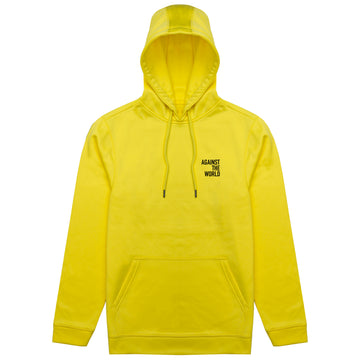 Against The World Yellow Poly Hoodie