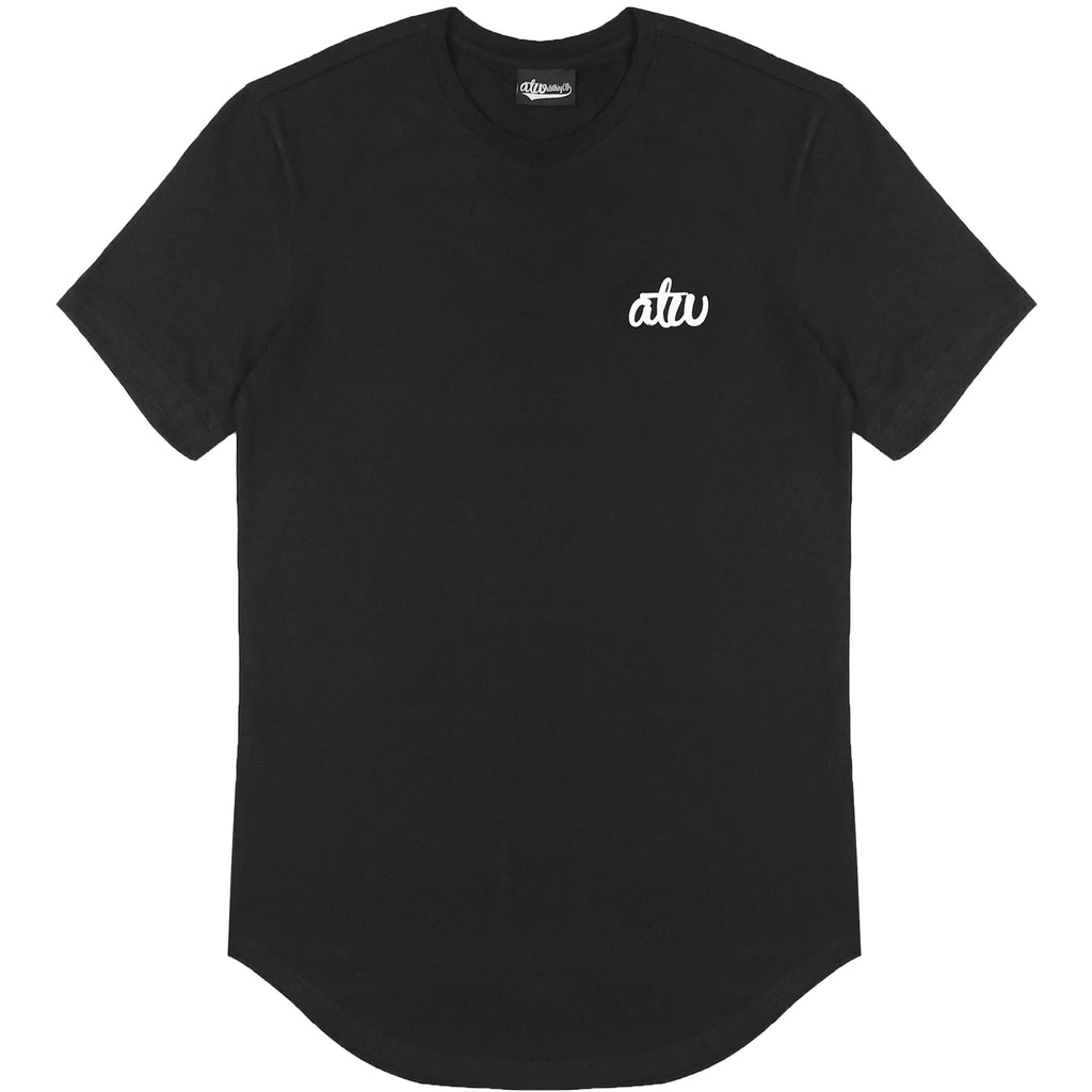 Curved Hem T-shirt Black