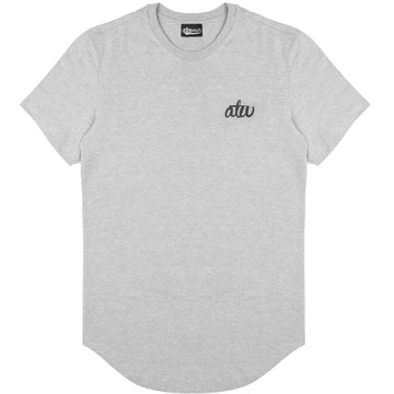Curved Hem T-shirt Grey
