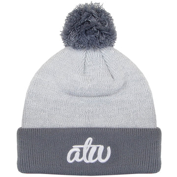Dawn Knit Bobble Beanie Grey
