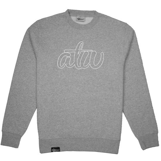 Hollow Logo Crewneck Grey/White