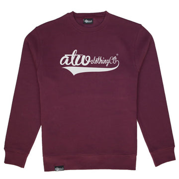 ClothingCo Sweater Maroon/White