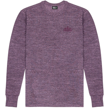 Maroon Long Sleeve Knit T-shirt