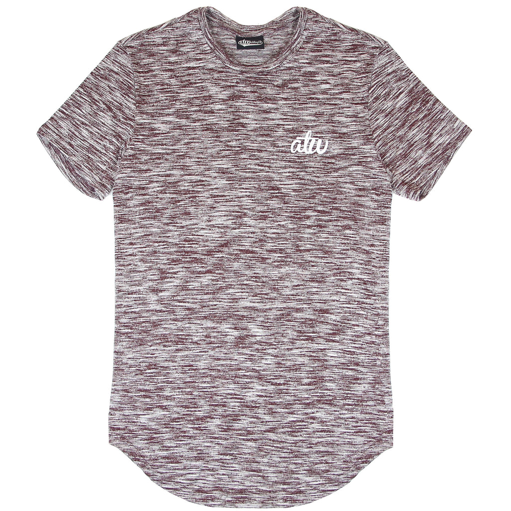 Knit T-shirt Maroon