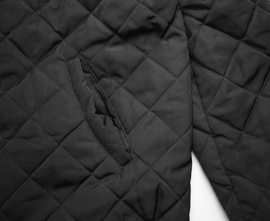 Quilted Bomber Jacket Black