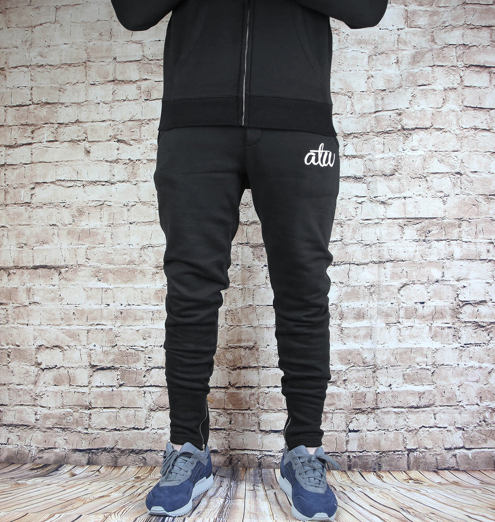 Zipped Tracksuit Black