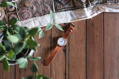 MINT watch co Pioneer tan rose gold by Rach Jackson