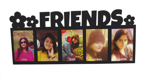 friends wooden photo collage with velvet finishing 5 photos 1