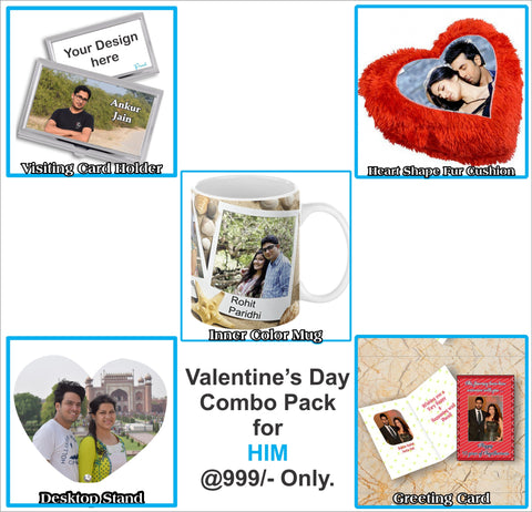 Personalised Valentine S Day Gift 999 Combo For Him Printoli In