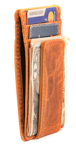 1e69e7169bdf9b RAWHYD Leather Slim Wallet with Magnetic Money Clip - Made From 100% F –  RAWHYD Leather Co.