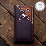 Hair On Leather + Concho Leather Wallet for Men