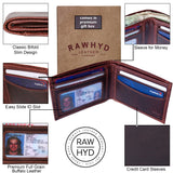 Bi-fold Wallet w/ Easy Access Card Slot - Genuine Leather Wallets for Men