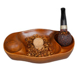 Briar & Oak Vintage Tobacco Pipe Ash Tray with Cork Knocker