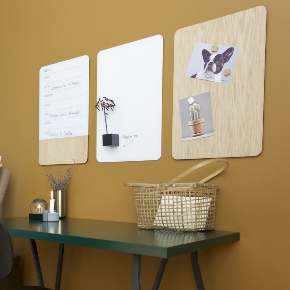 White Glass and Oak Veneer Planner Series