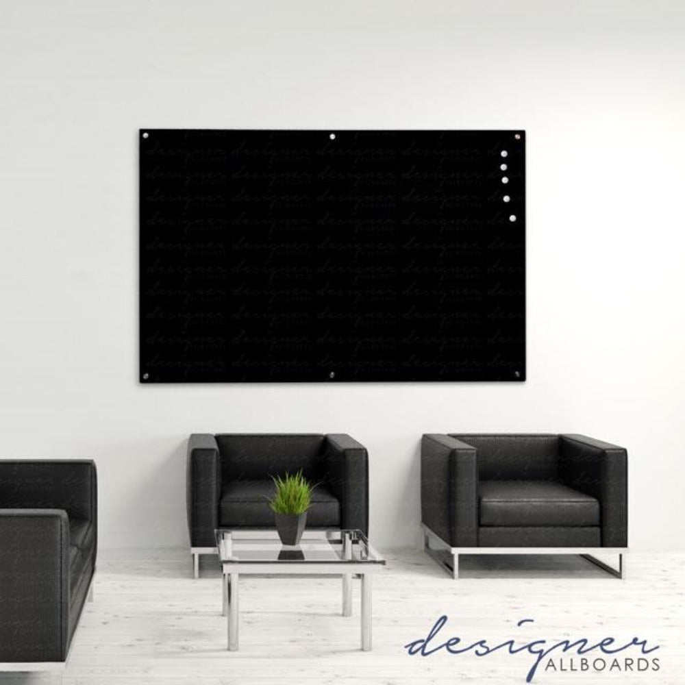 Magnetic Black Glassboard