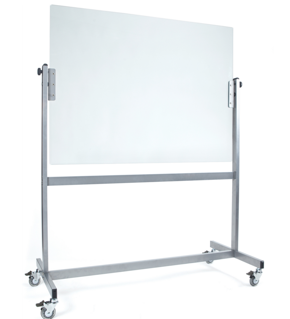 White SPACE Mobile Magnetic Glassboard