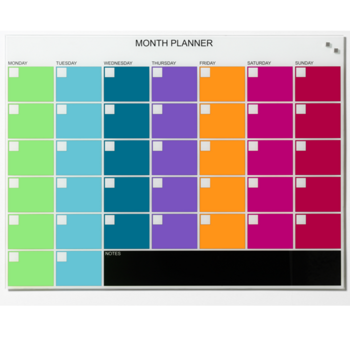 NAGA Colourful Month Planner
