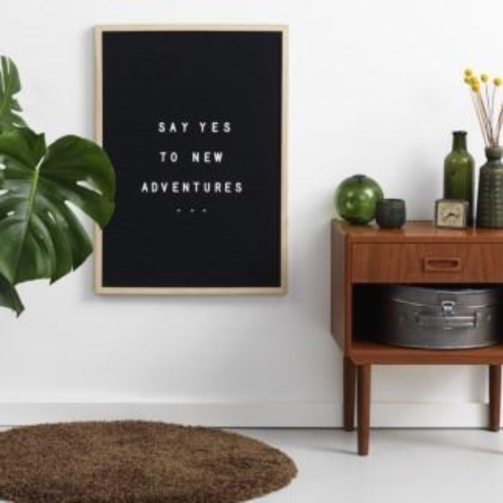 NAGA Letterboard with Pine Frame