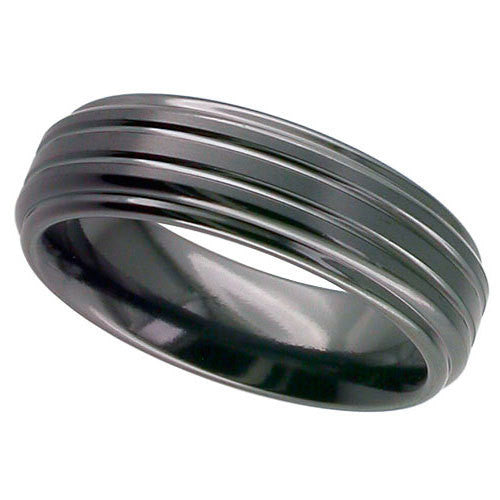 4002B - BLACK ZIRCONIUM RING