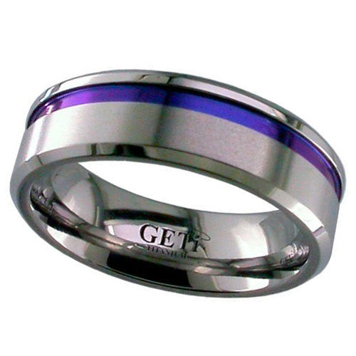 4008CHP-ANO - Anodised Zirconium Ring