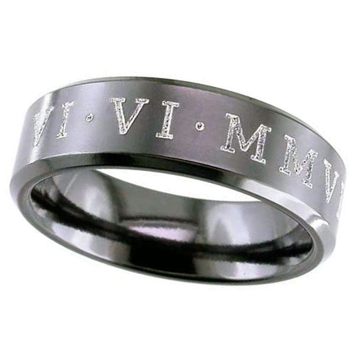 4026CHBRN - BLACK ZIRCONIUM RING