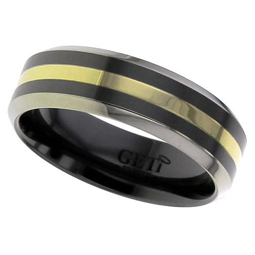 4018CHRBI-1.5MM18Y - BLACK ZIRCONIUM RING