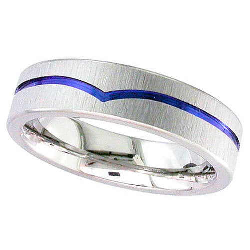 4026W-ANO - Anodised Zirconium Ring
