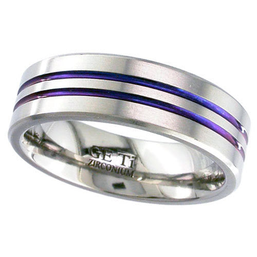 4040-ANO - Anodised Zirconium Ring