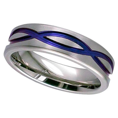 4093FX-ANO - Anodised Zirconium Ring