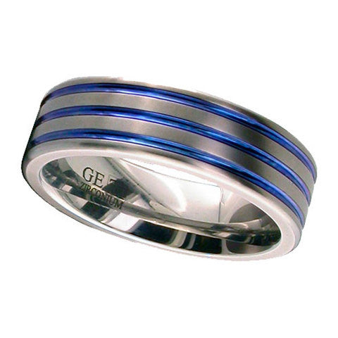 4003-ANO - Anodised Zirconium Ring